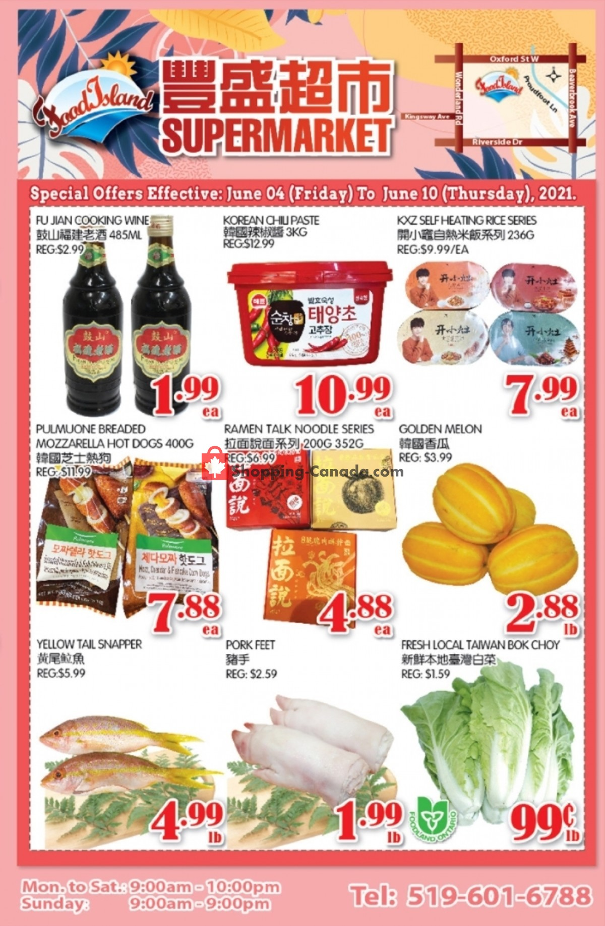 Flyer Food Island Supermarket Canada - from Friday June 4, 2021 to Thursday June 10, 2021