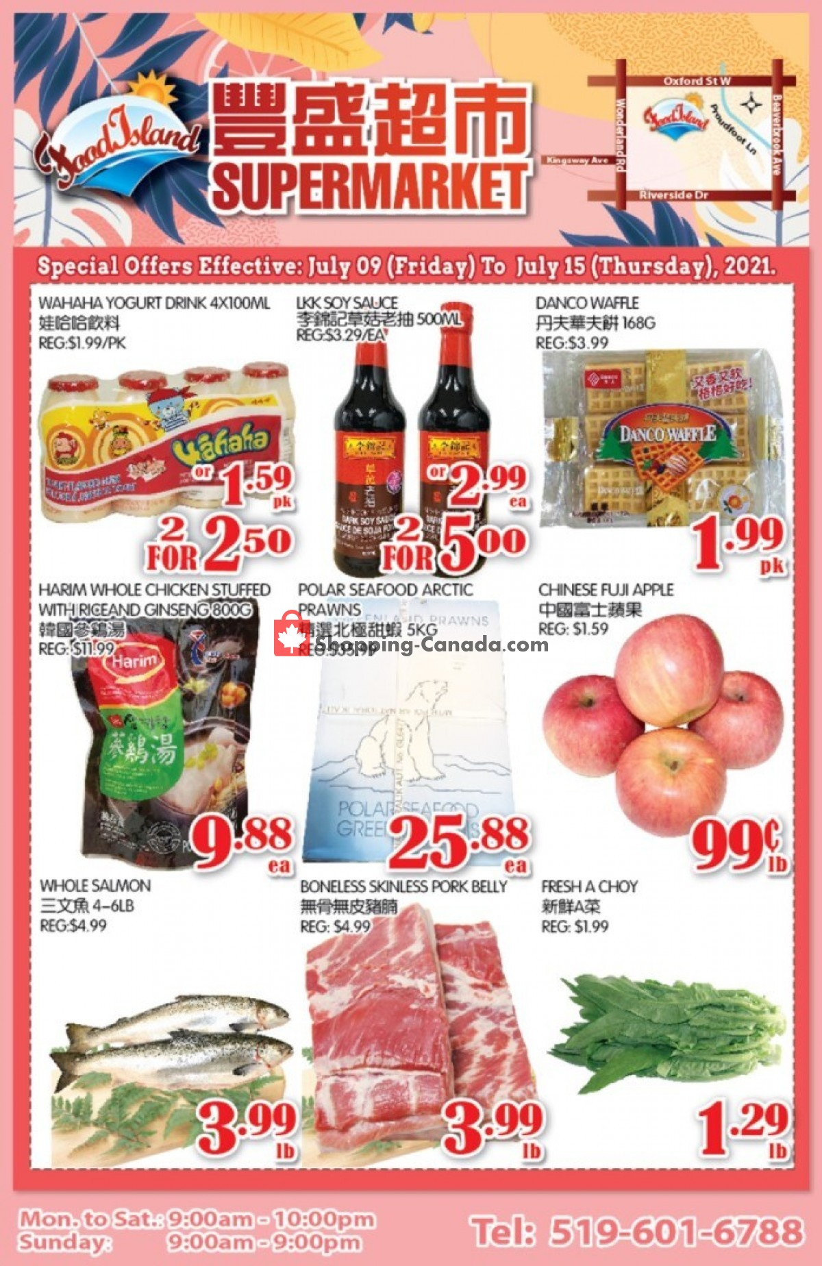 Flyer Food Island Supermarket Canada - from Friday July 9, 2021 to Thursday July 15, 2021