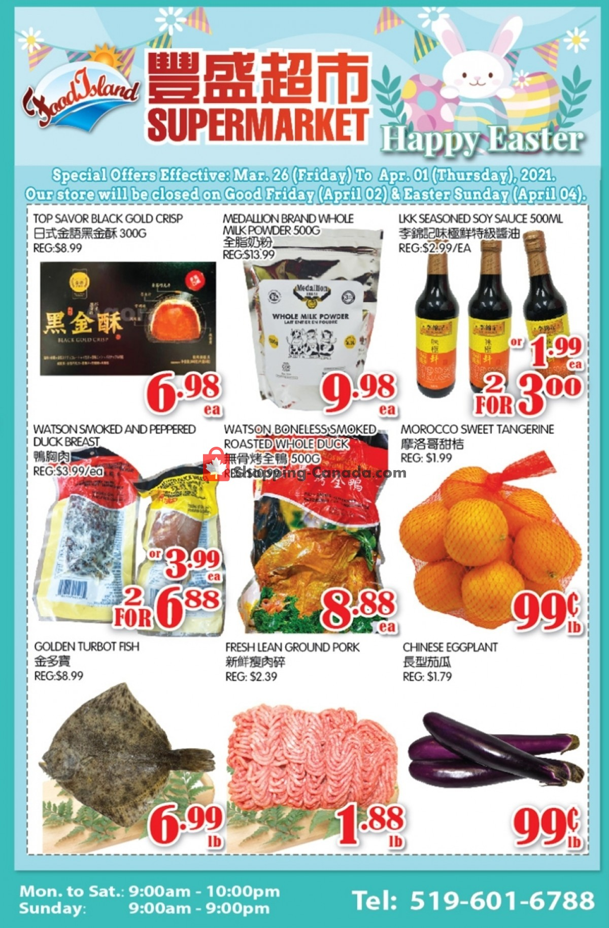 Flyer Food Island Supermarket Canada - from Friday March 26, 2021 to Thursday April 1, 2021