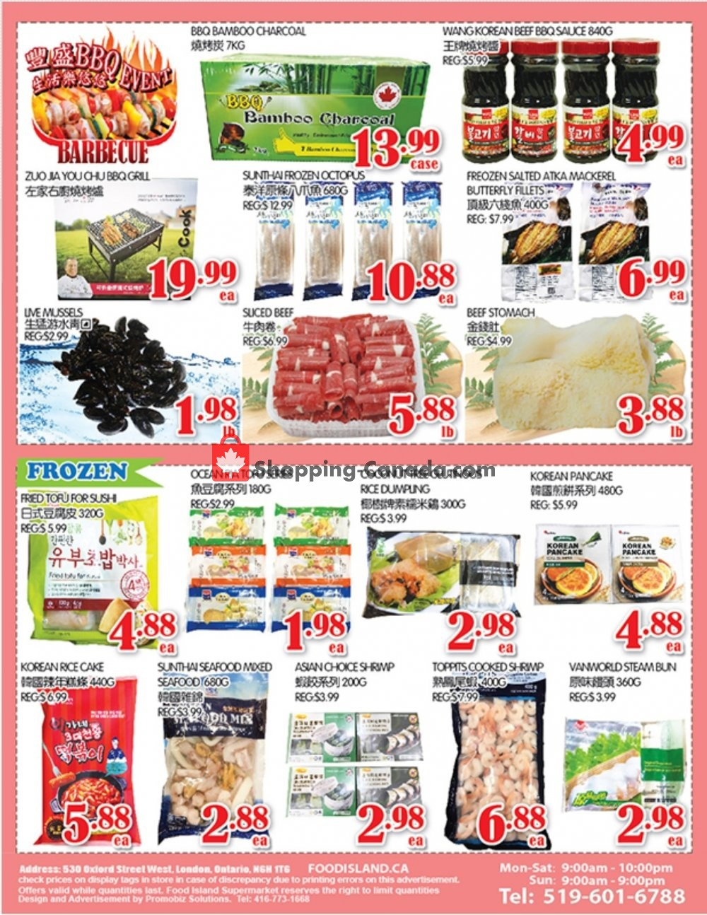 Flyer Food Island Supermarket Canada - from Friday September 6, 2019 to Thursday September 12, 2019
