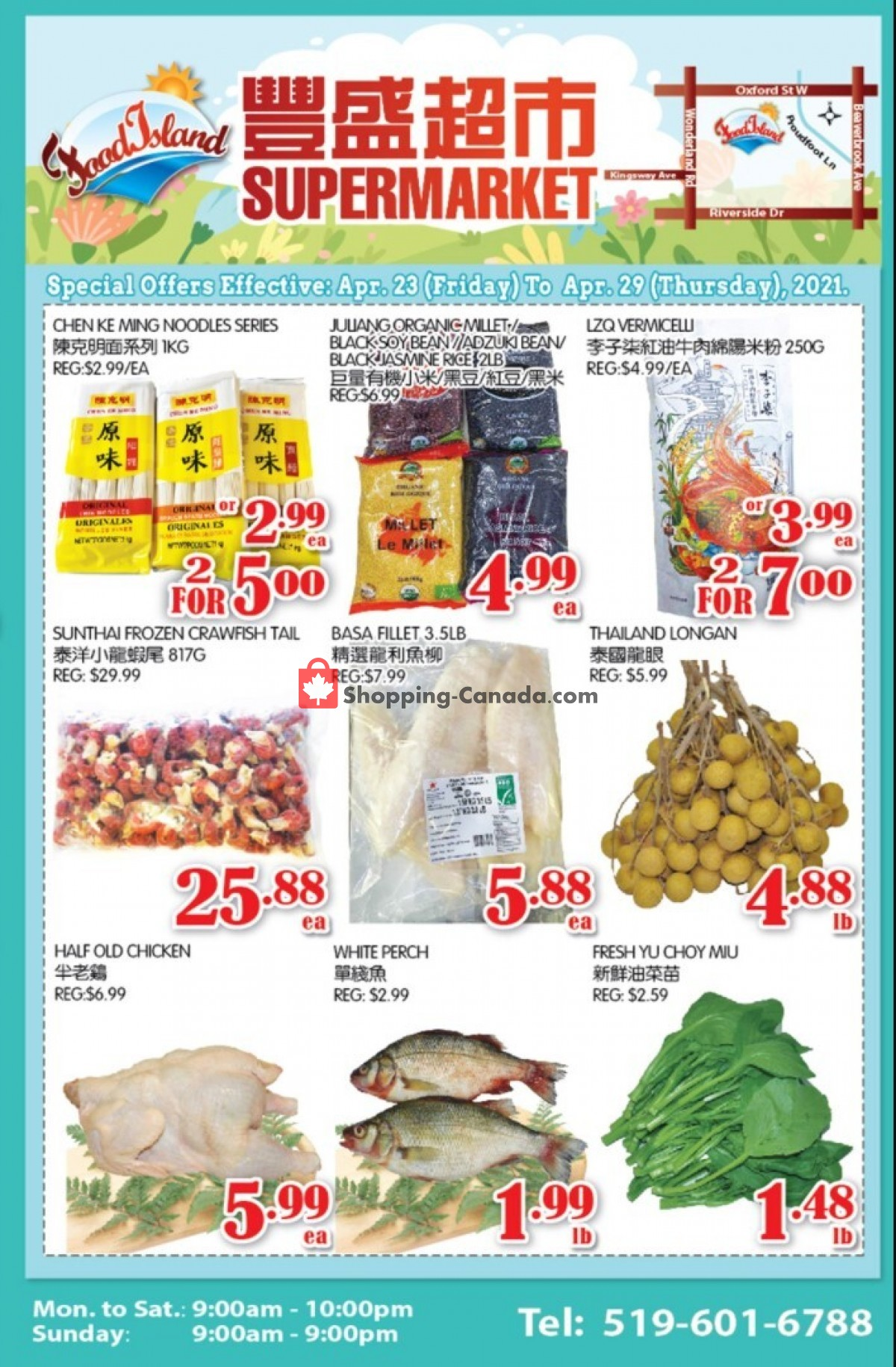 Flyer Food Island Supermarket Canada - from Friday April 23, 2021 to Thursday April 29, 2021
