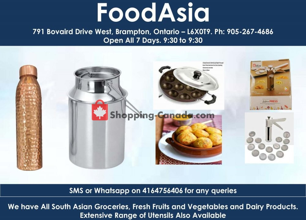 Flyer FoodAsia Canada - from Saturday December 19, 2020 to Friday December 25, 2020