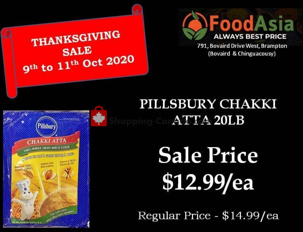 Flyer FoodAsia Canada - from Friday October 9, 2020 to Sunday October 11, 2020