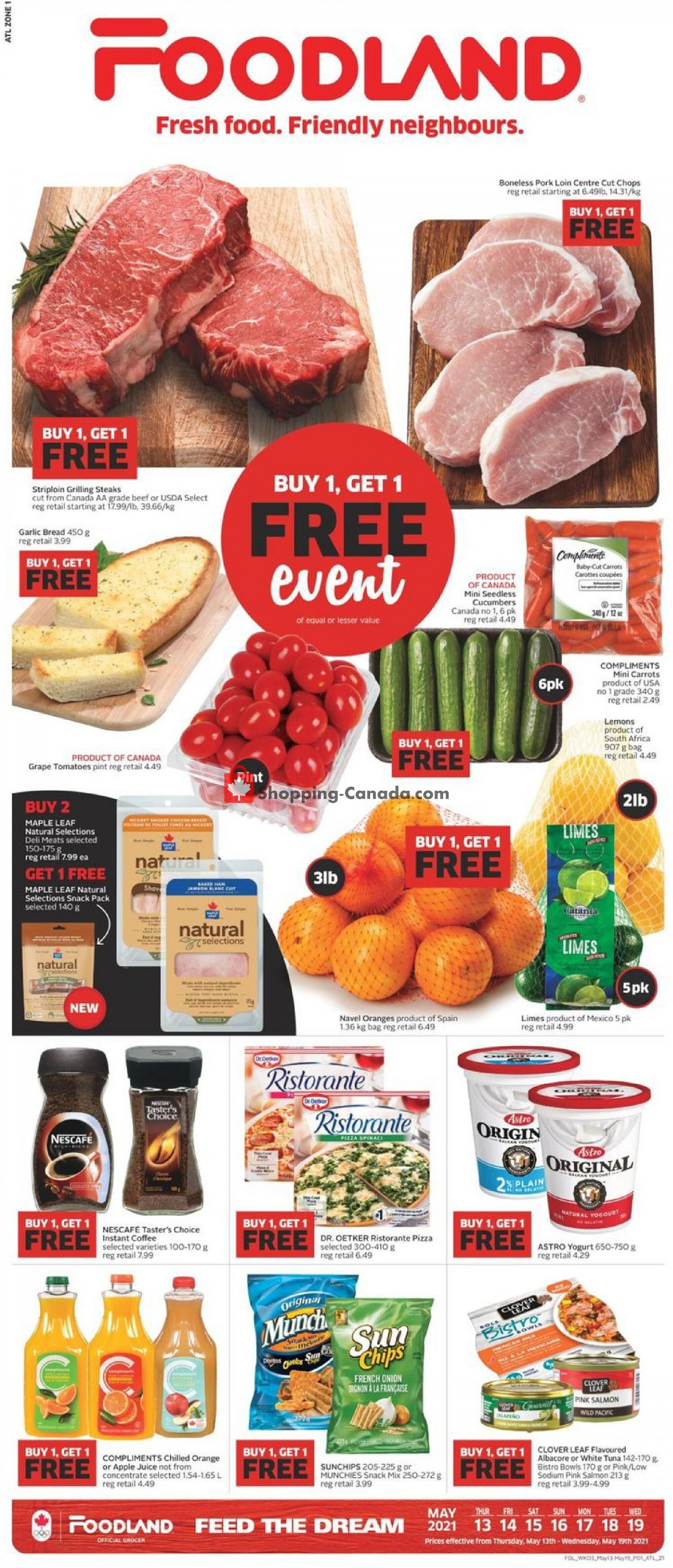 Flyer Foodland Canada - from Thursday May 13, 2021 to Wednesday May 19, 2021