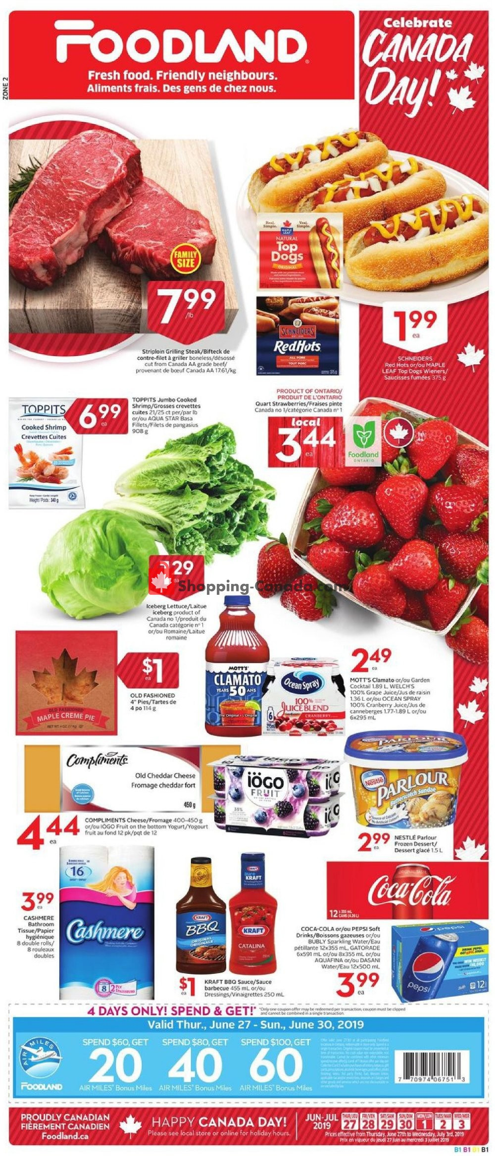 Flyer Foodland Canada - from Thursday June 27, 2019 to Wednesday July 3, 2019