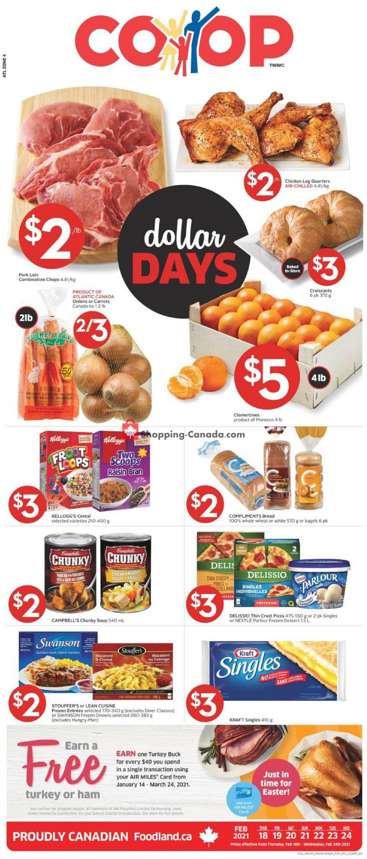 Flyer Foodland Canada - from Thursday February 18, 2021 to Wednesday February 24, 2021