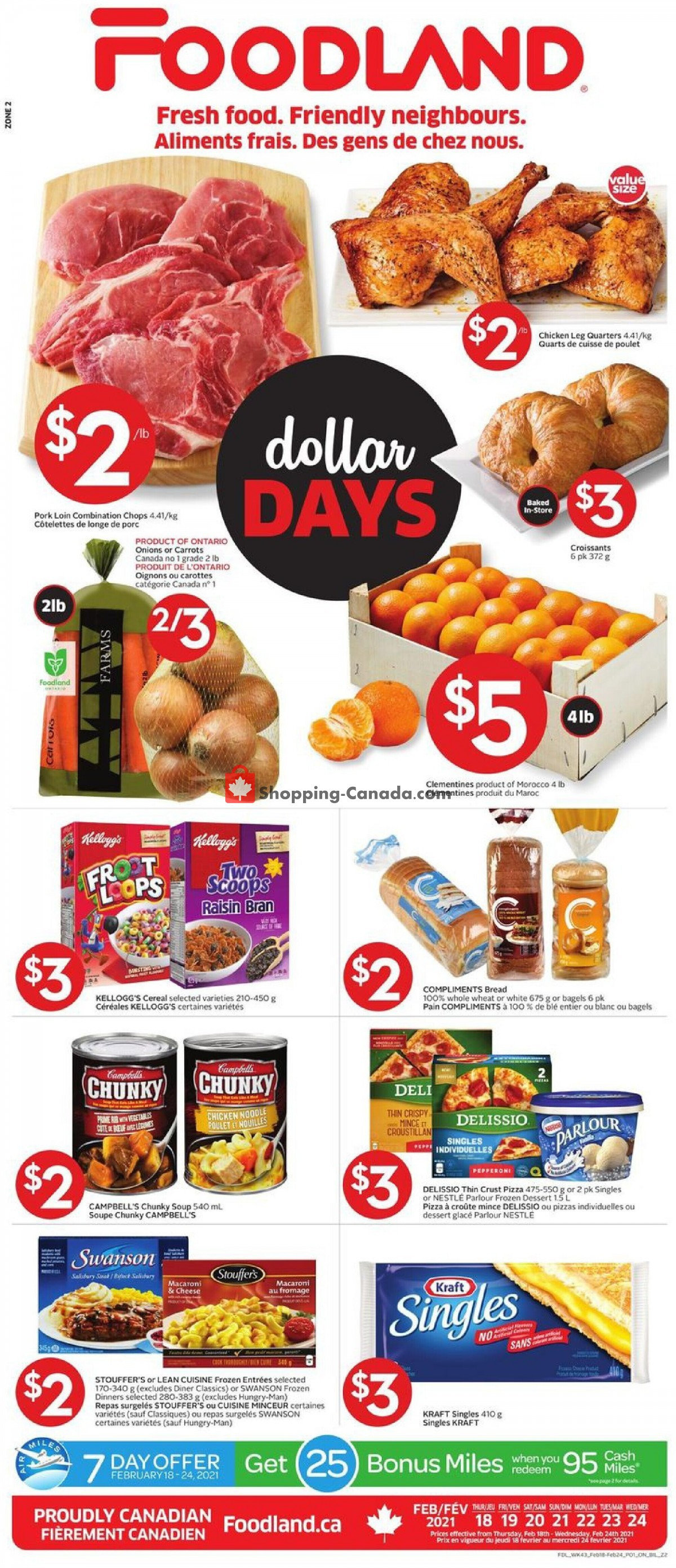 Flyer Foodland Canada - from Thursday February 18, 2021 to Wednesday February 24, 2021