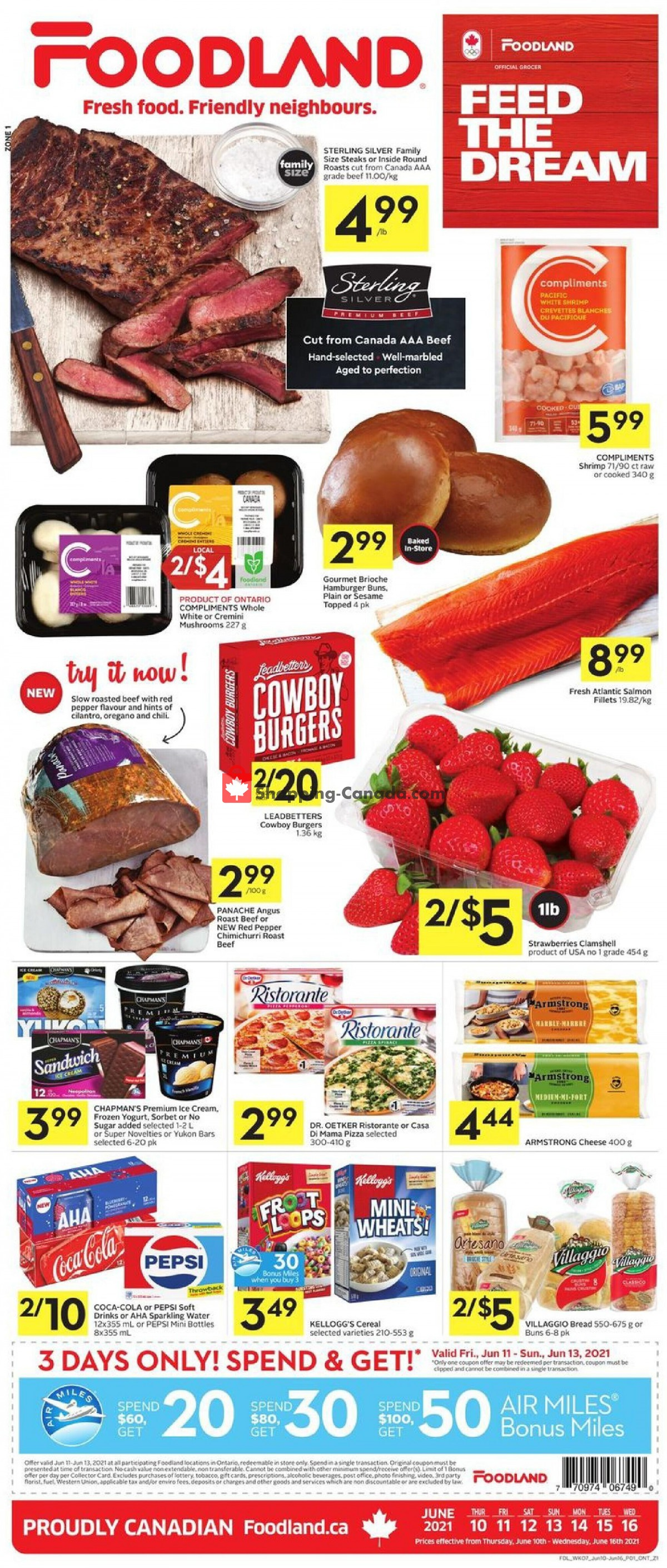 Flyer Foodland Canada - from Thursday June 10, 2021 to Wednesday June 16, 2021