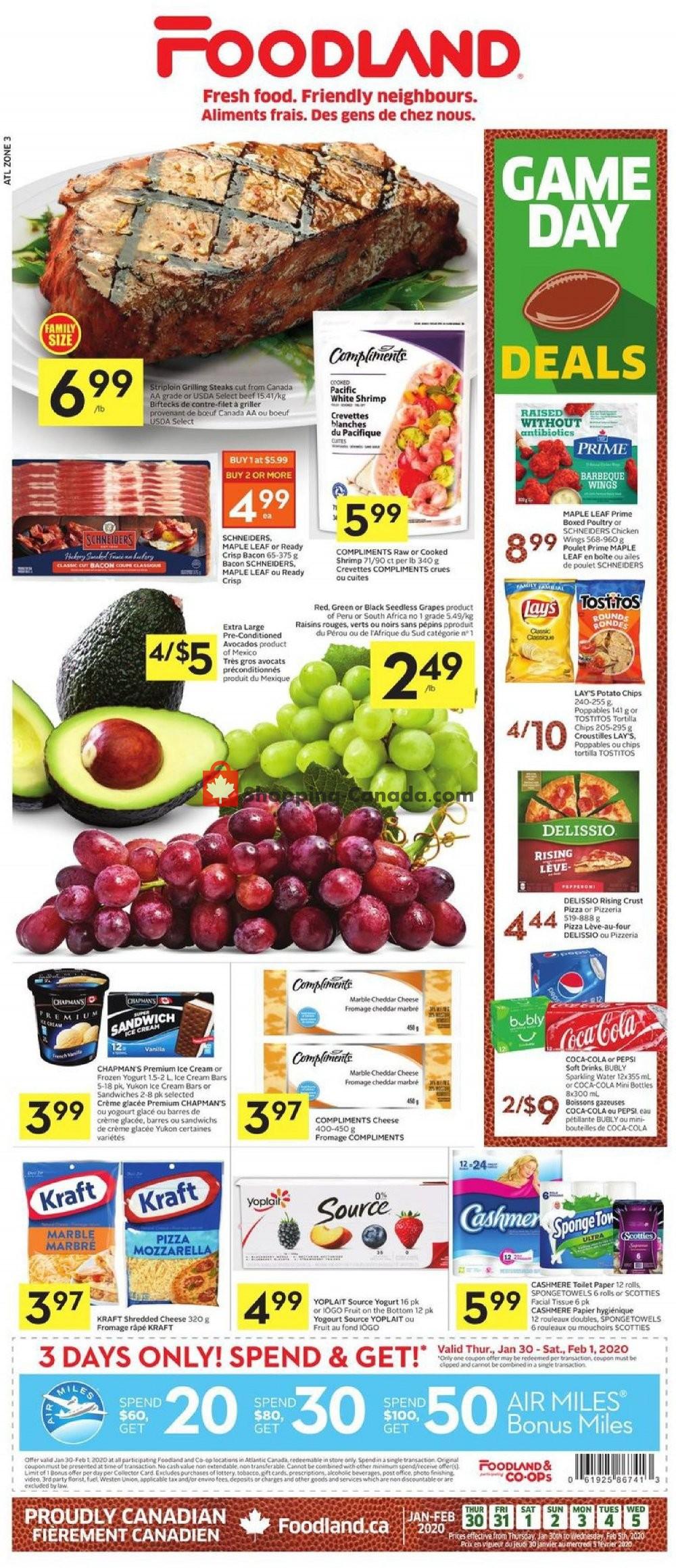 Flyer Foodland Canada - from Thursday January 30, 2020 to Wednesday February 5, 2020