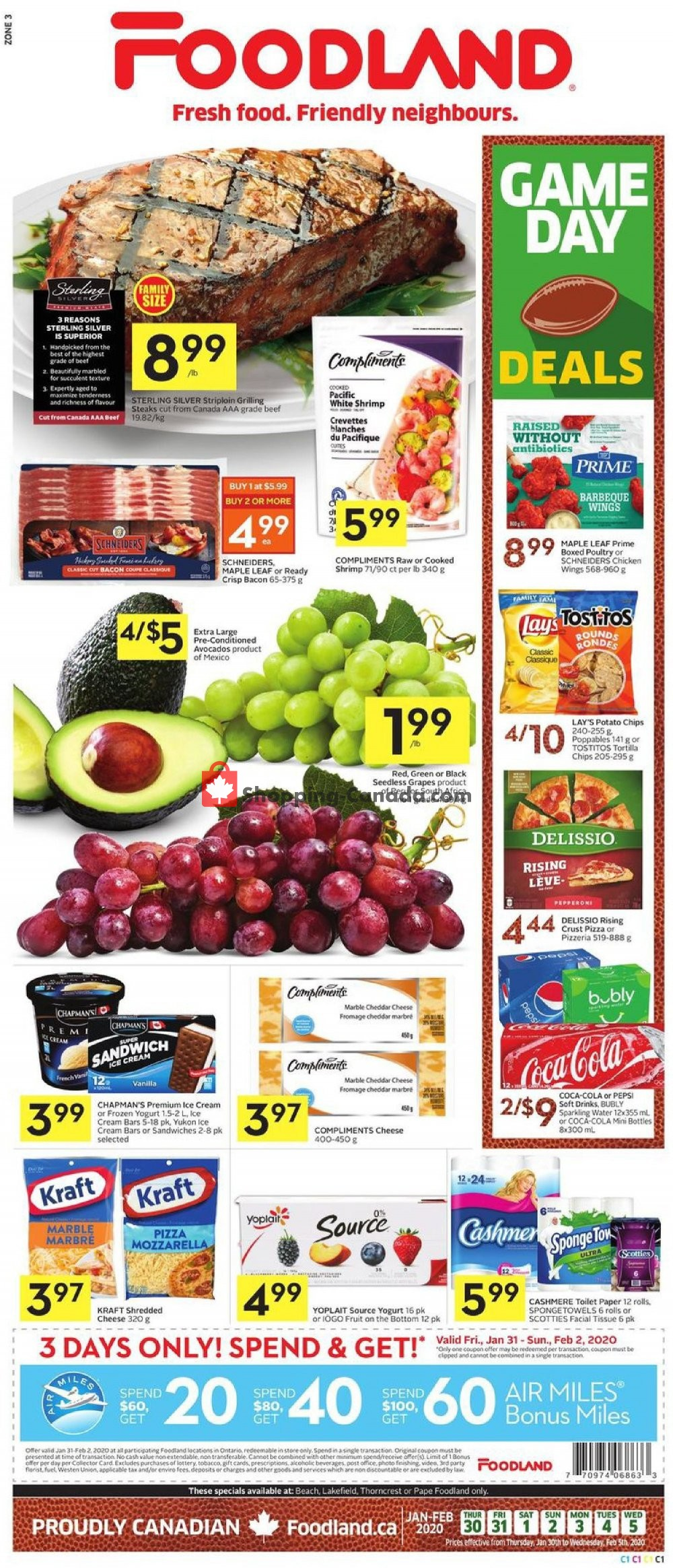 Flyer Foodland Canada - from Thursday January 30, 2020 to Wednesday February 5, 2020