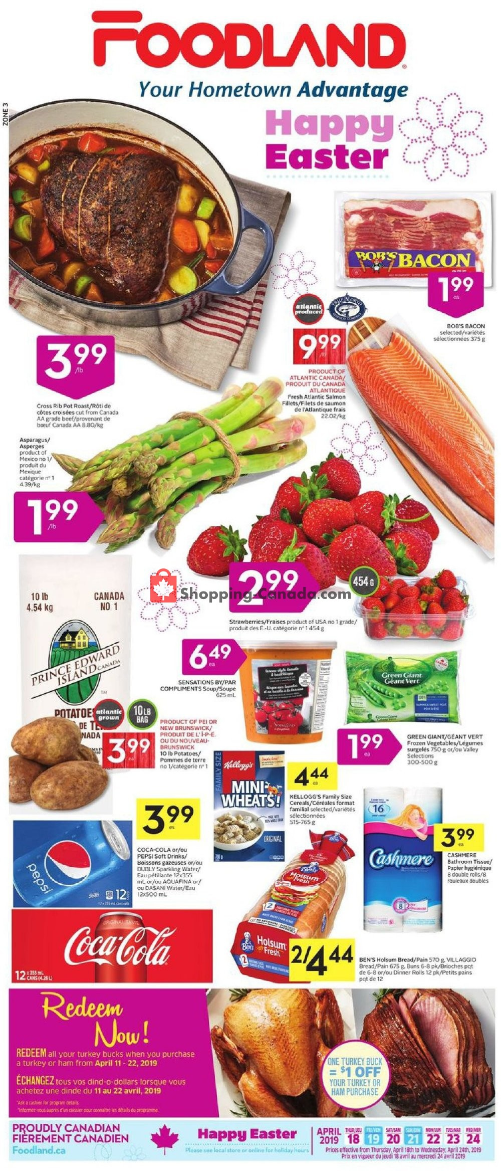 Flyer Foodland Canada - from Thursday April 18, 2019 to Wednesday April 24, 2019