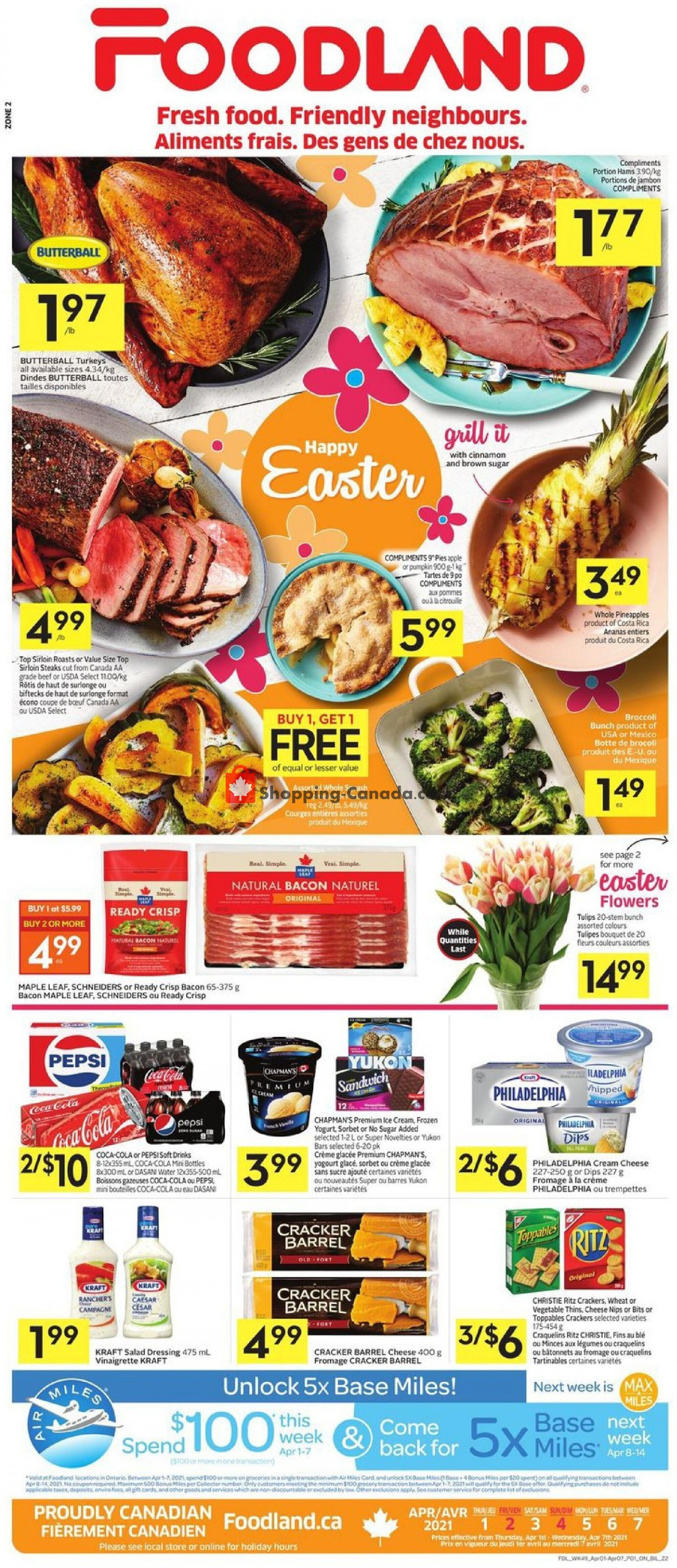 Flyer Foodland Canada - from Thursday April 1, 2021 to Wednesday April 7, 2021