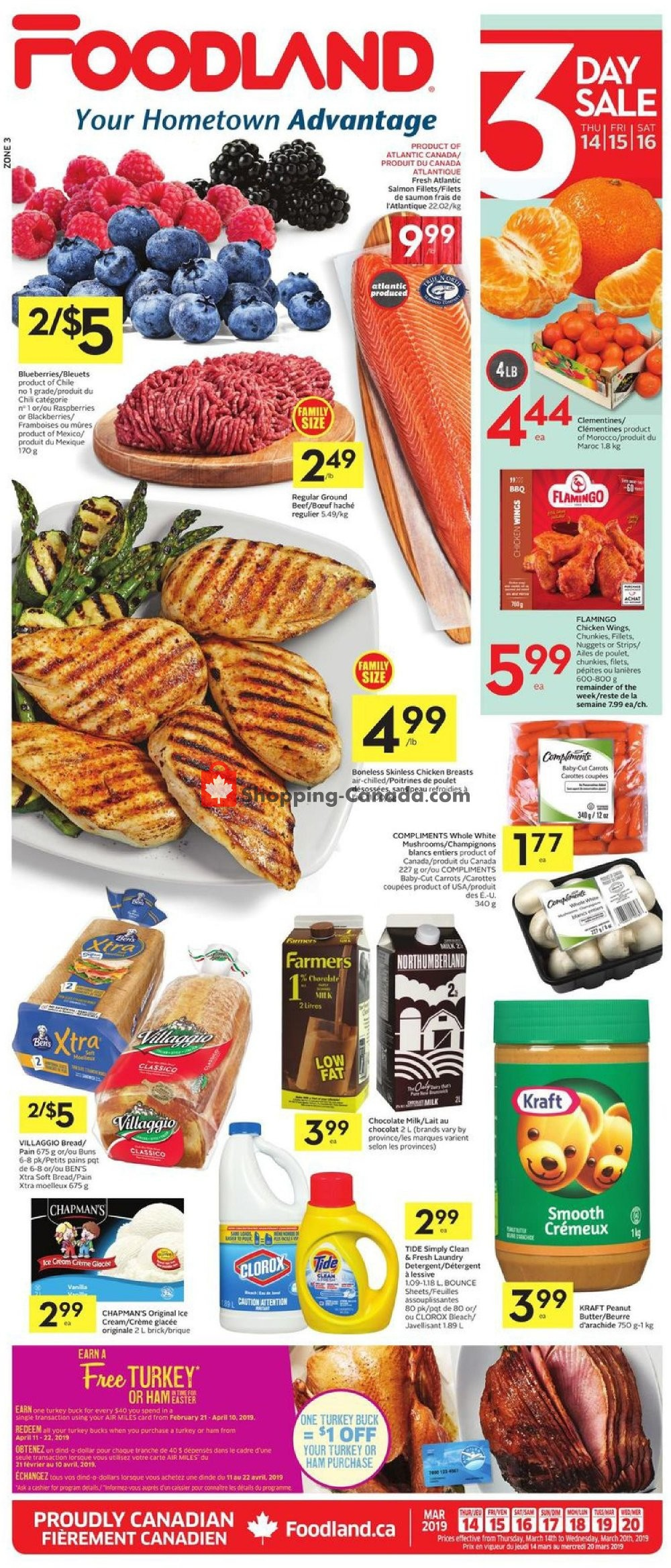 Flyer Foodland Canada - from Thursday March 14, 2019 to Wednesday March 20, 2019