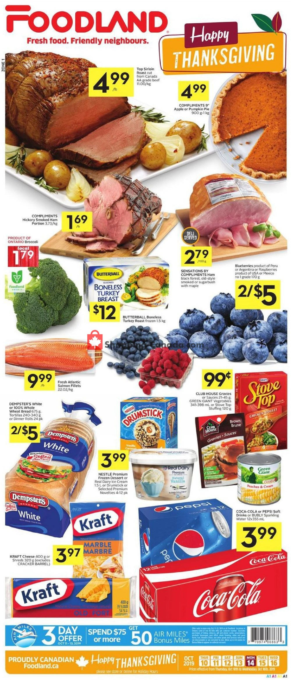 Flyer Foodland Canada - from Thursday October 10, 2019 to Wednesday October 16, 2019