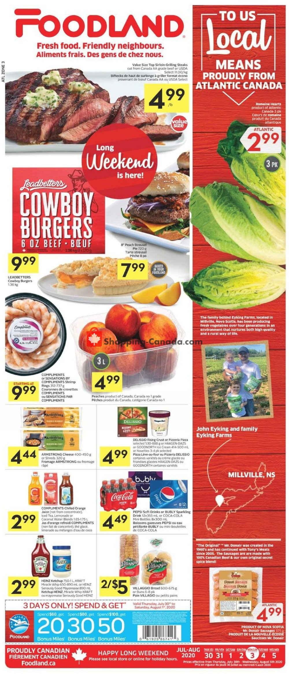 Flyer Foodland Canada - from Thursday July 30, 2020 to Wednesday August 5, 2020