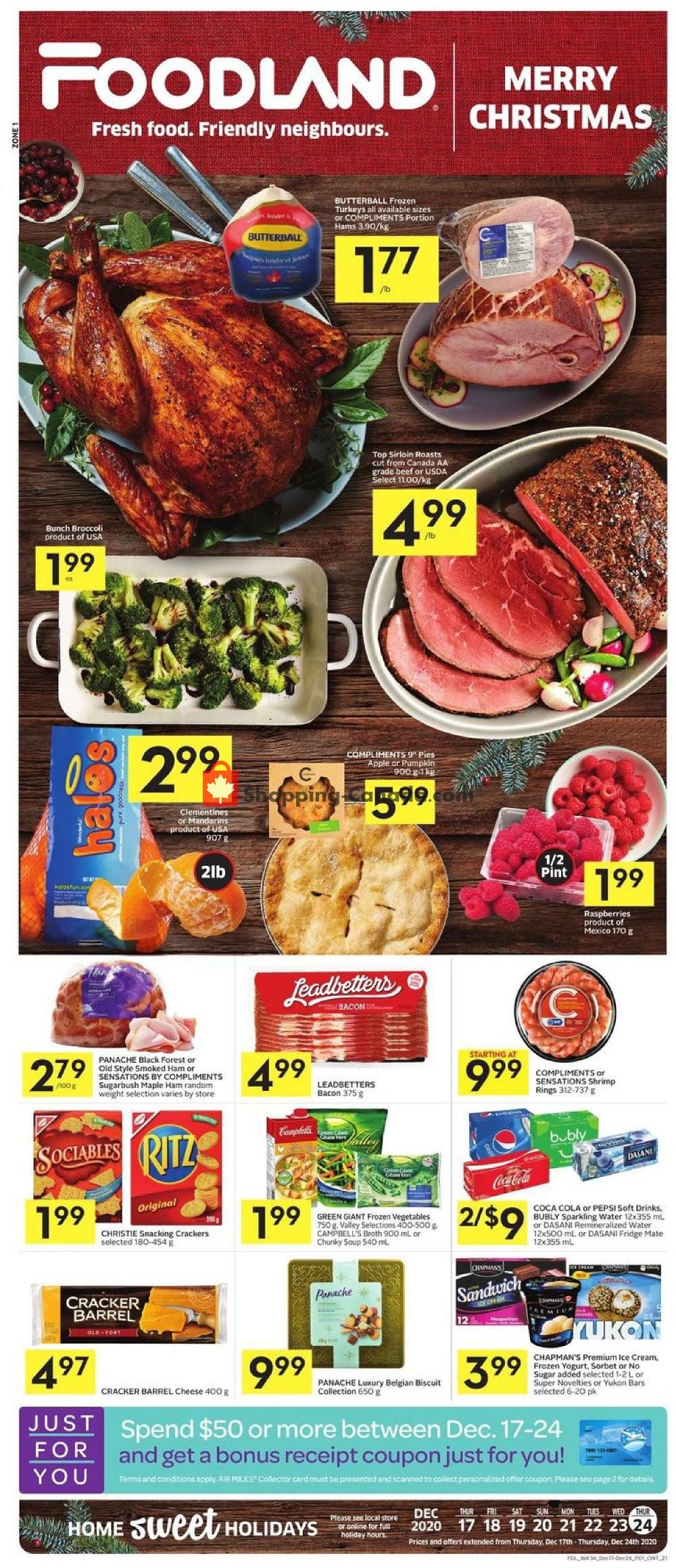 Flyer Foodland Canada - from Thursday December 17, 2020 to Thursday December 24, 2020
