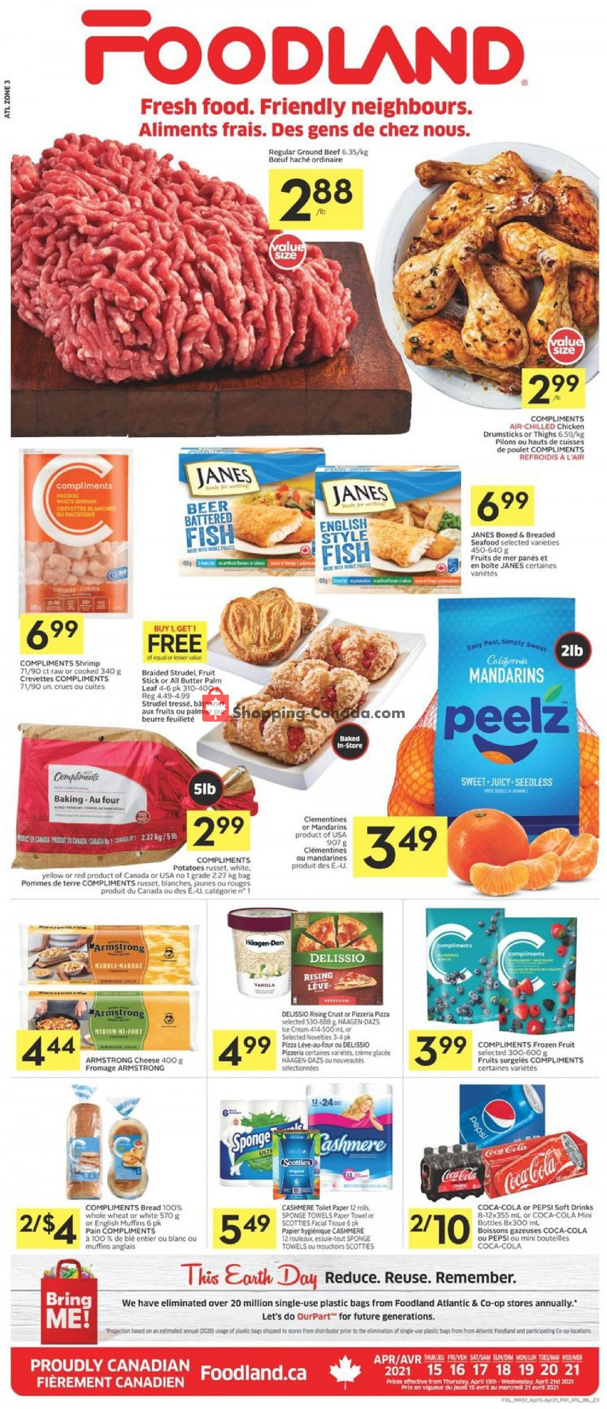 Flyer Foodland Canada - from Thursday April 15, 2021 to Wednesday April 21, 2021