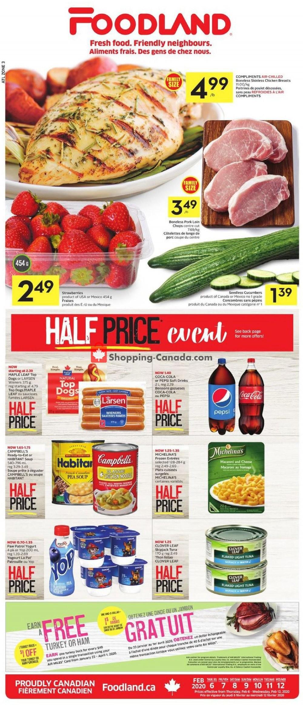Flyer Foodland Canada - from Thursday February 6, 2020 to Wednesday February 12, 2020