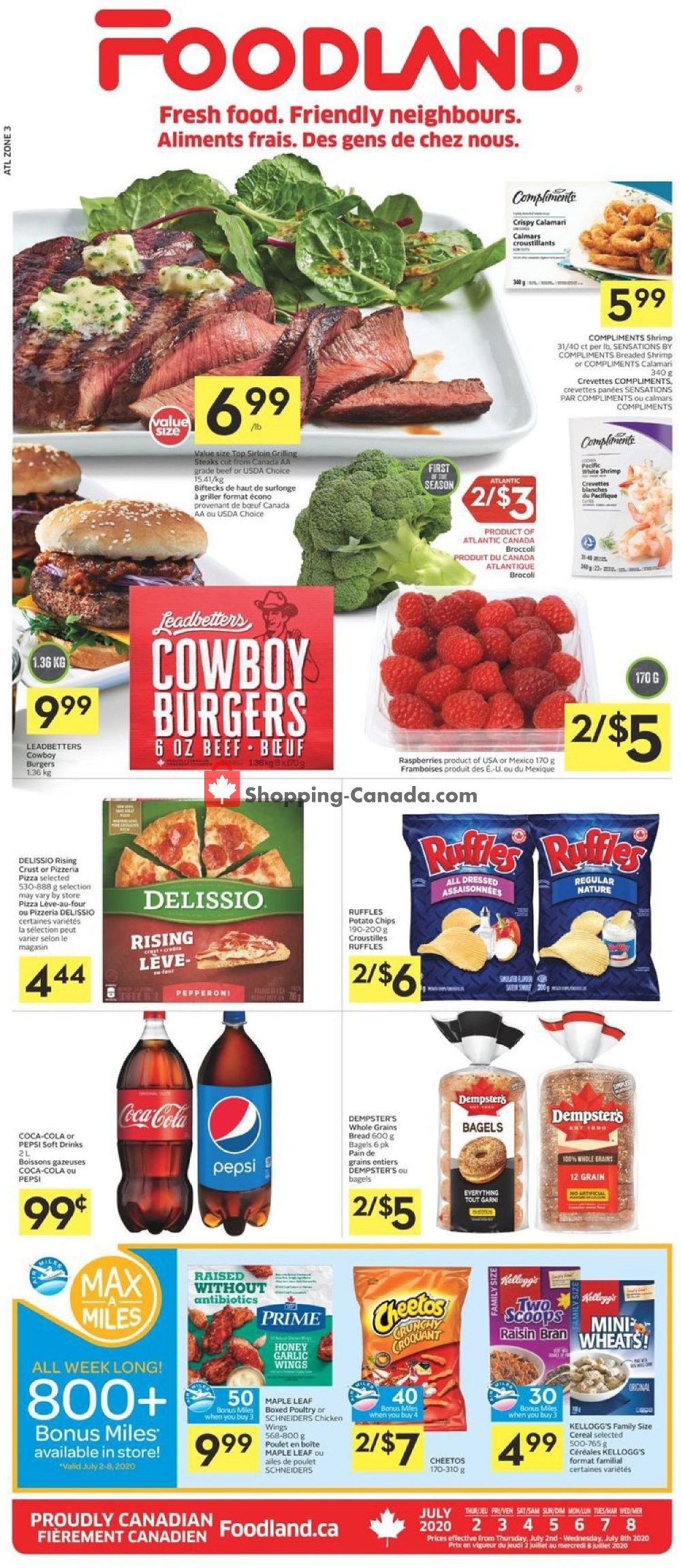 Flyer Foodland Canada - from Thursday July 2, 2020 to Wednesday July 8, 2020