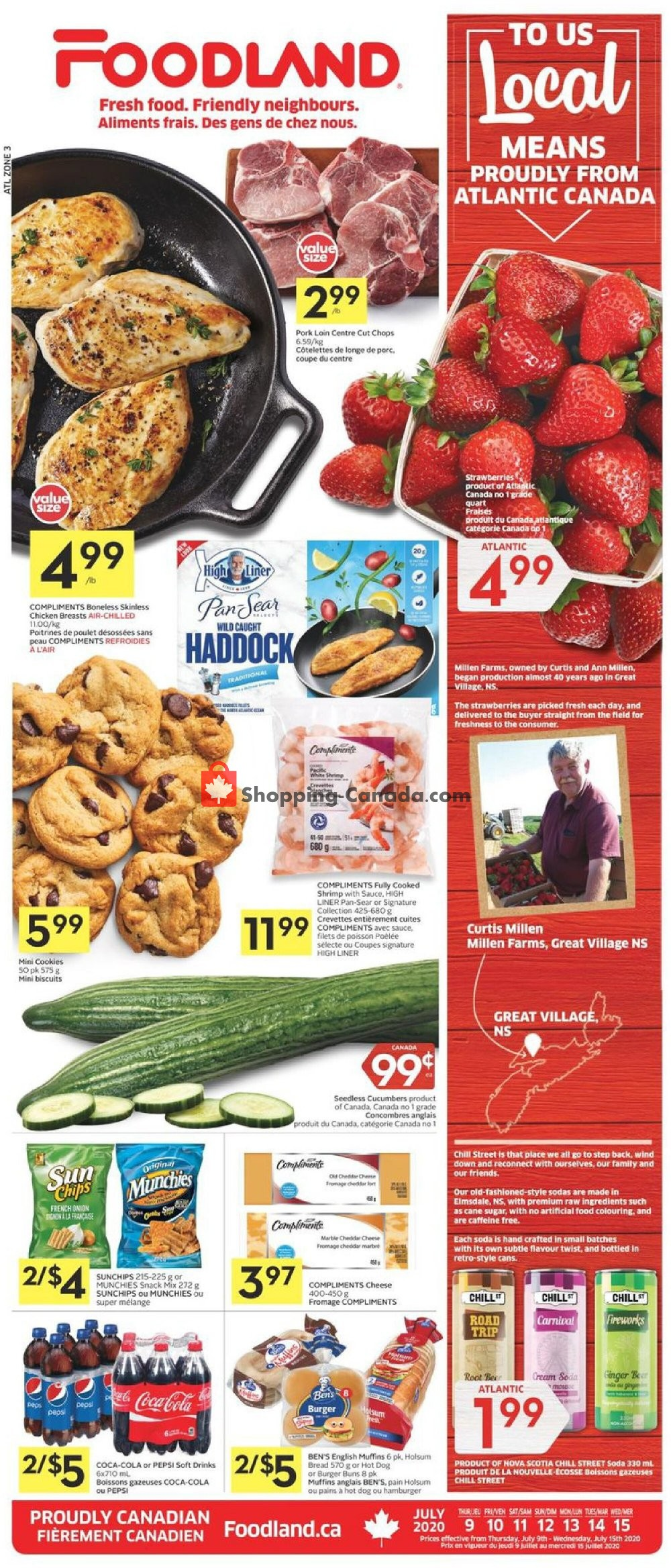 Flyer Foodland Canada - from Thursday July 9, 2020 to Wednesday July 15, 2020