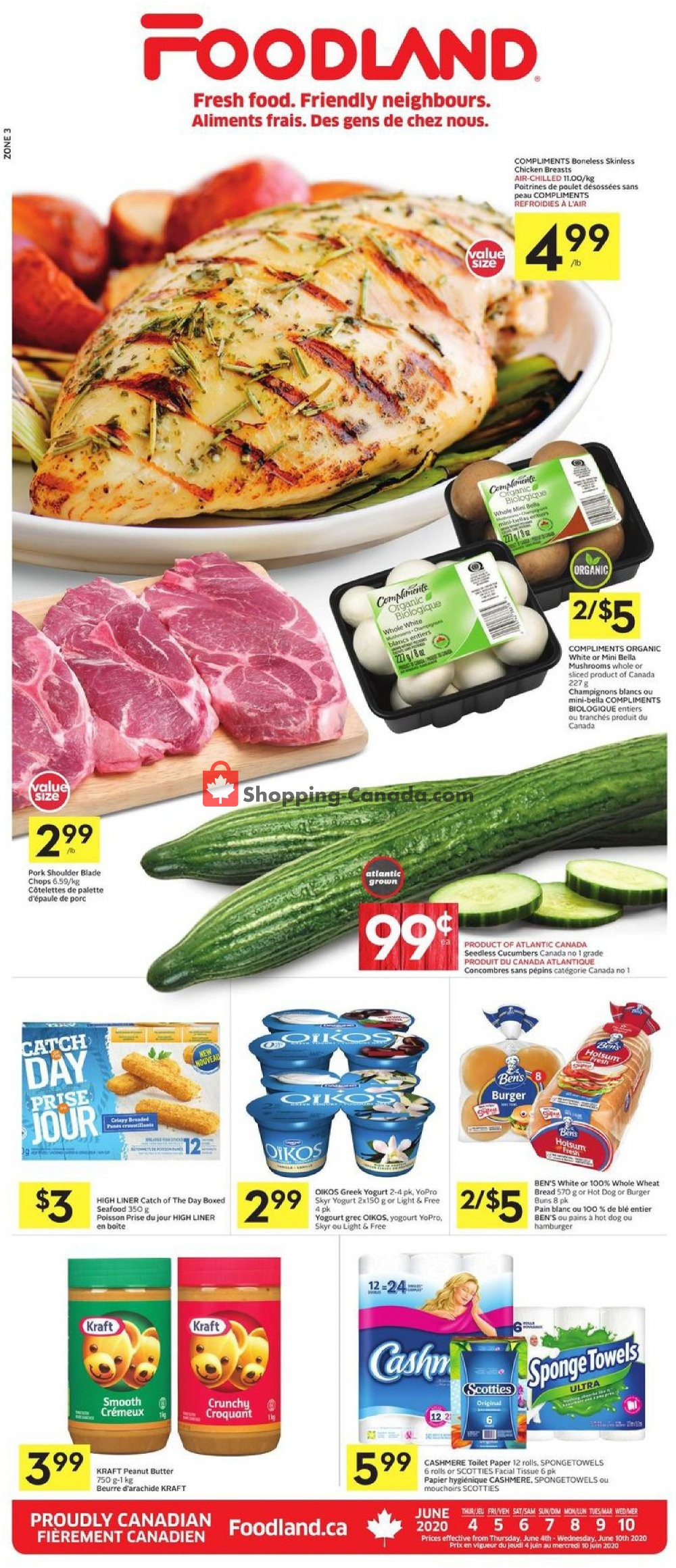 Flyer Foodland Canada - from Thursday June 4, 2020 to Wednesday June 10, 2020