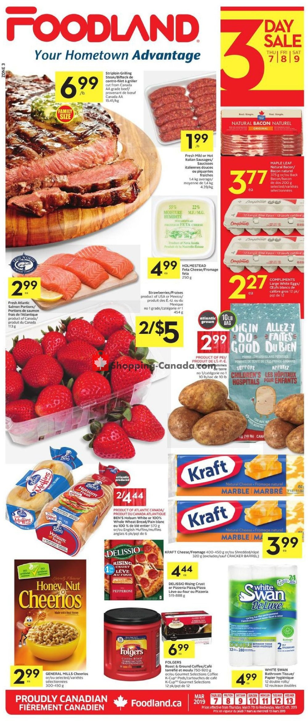 Flyer Foodland Canada - from Thursday March 7, 2019 to Wednesday March 13, 2019