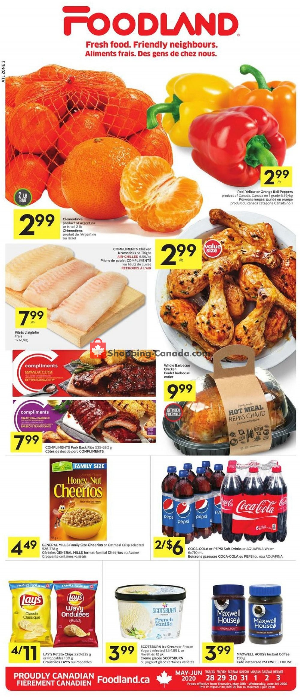 Flyer Foodland Canada - from Thursday May 28, 2020 to Wednesday June 3, 2020