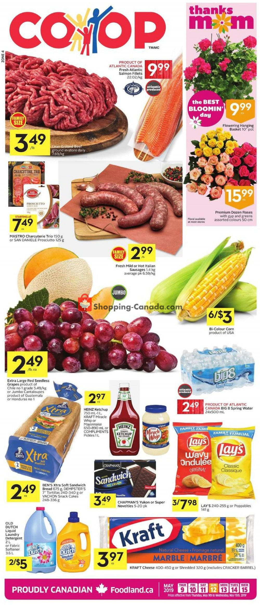 Flyer Foodland Canada - from Thursday May 9, 2019 to Wednesday May 15, 2019