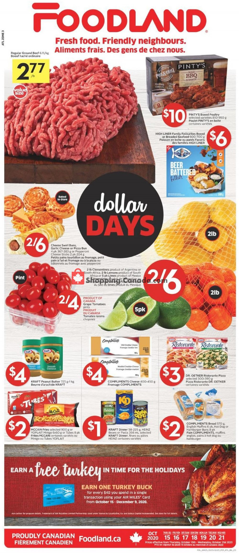 Flyer Foodland Canada - from Thursday October 15, 2020 to Wednesday October 21, 2020