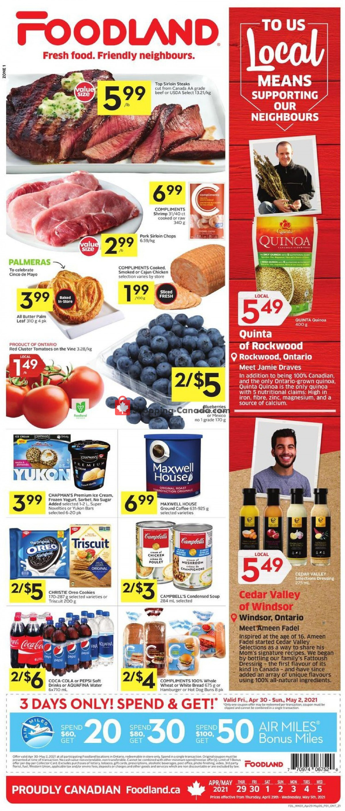 Flyer Foodland Canada - from Thursday April 29, 2021 to Wednesday May 5, 2021