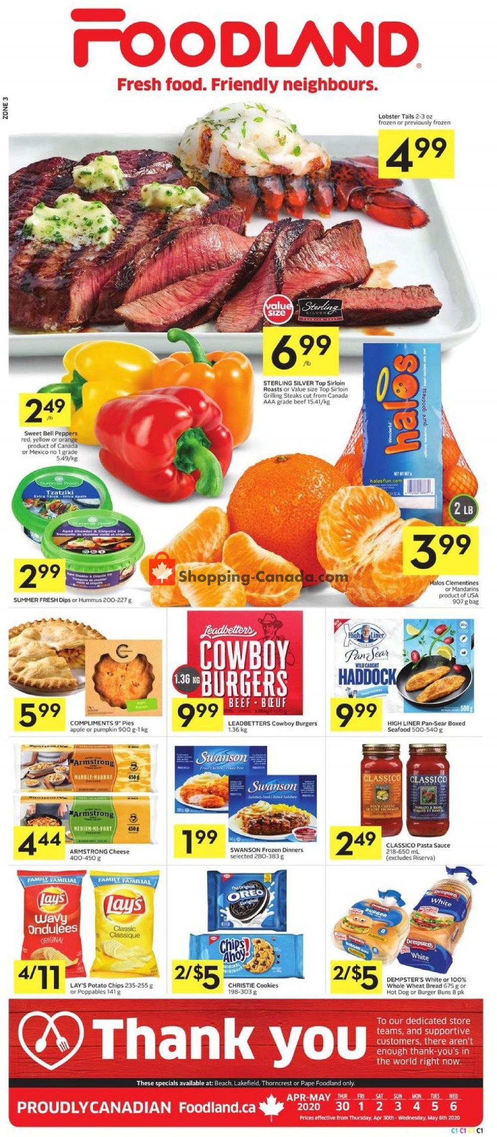 Flyer Foodland Canada - from Thursday April 30, 2020 to Wednesday May 6, 2020