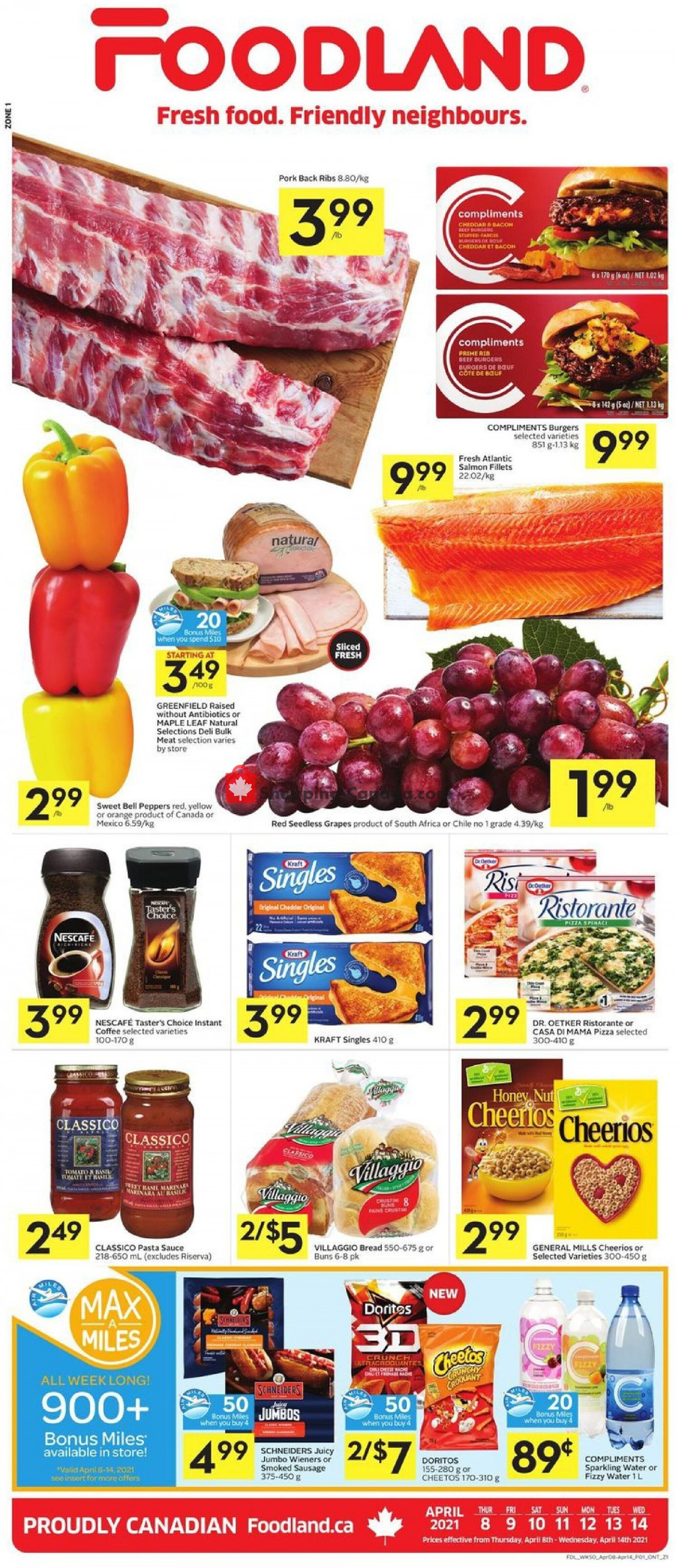 Flyer Foodland Canada - from Thursday April 8, 2021 to Wednesday April 14, 2021