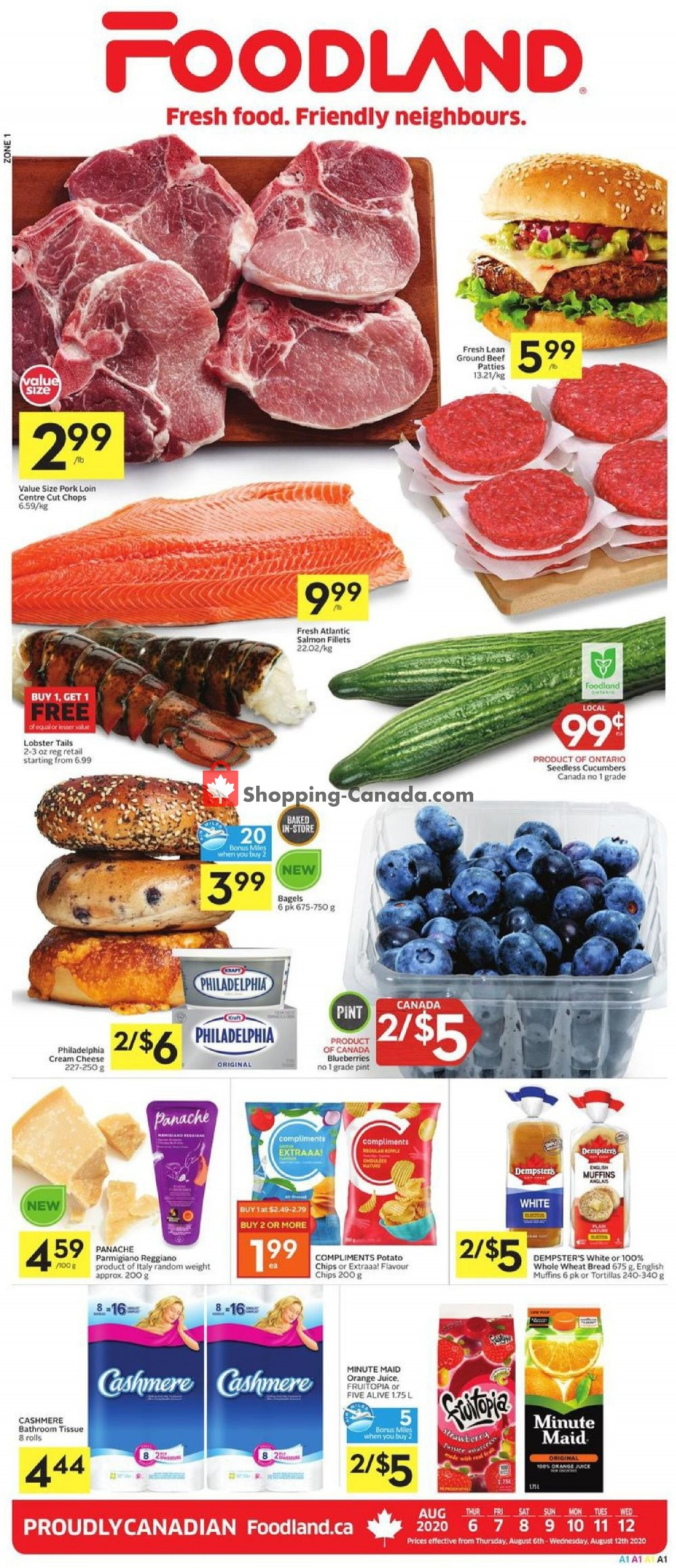 Flyer Foodland Canada - from Thursday August 6, 2020 to Wednesday August 12, 2020