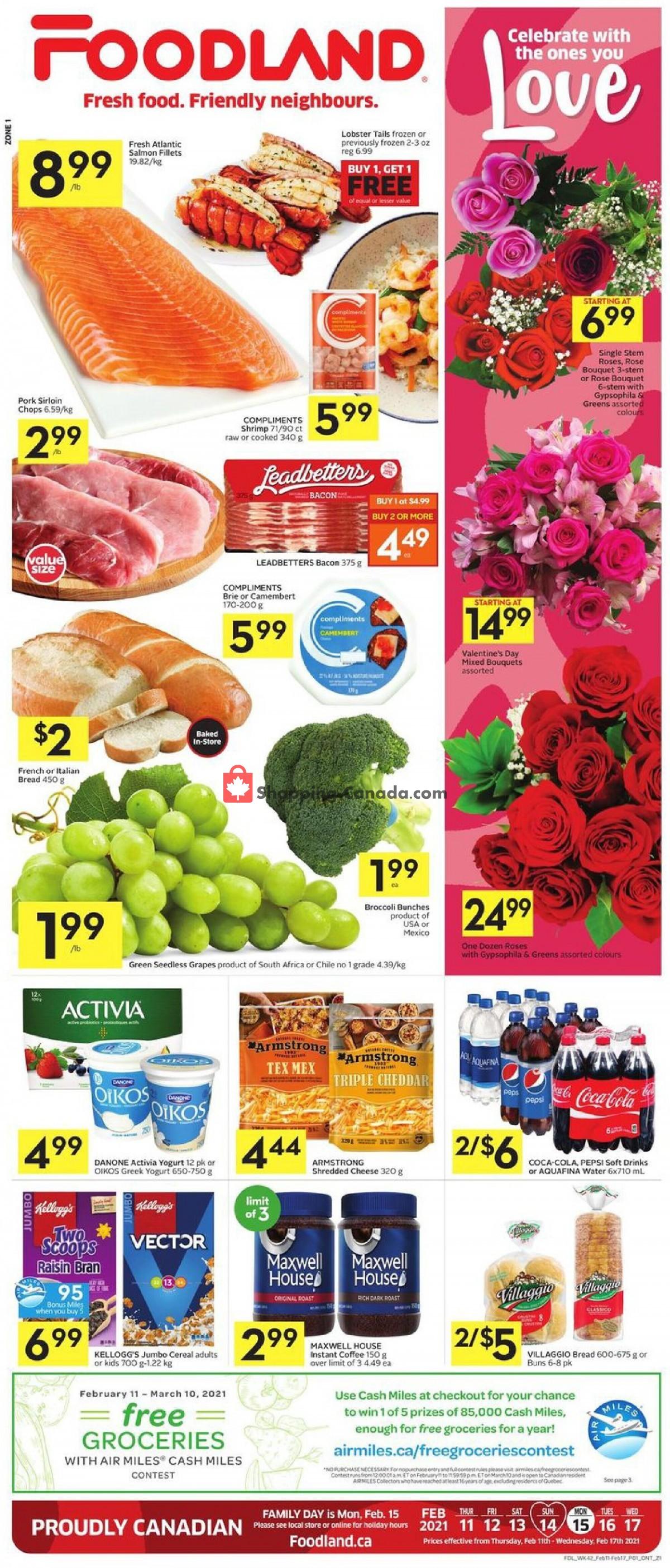 Flyer Foodland Canada - from Thursday February 11, 2021 to Wednesday February 17, 2021