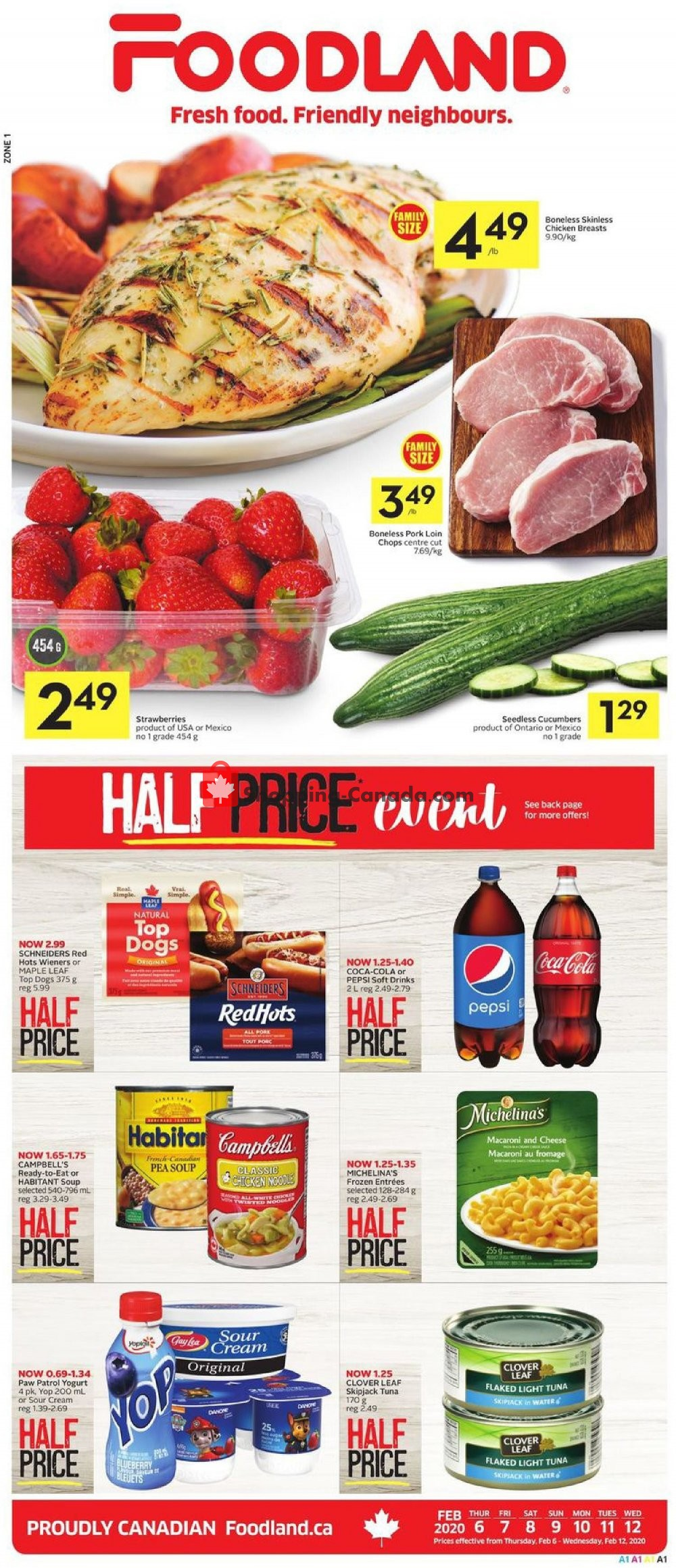 Flyer Foodland Canada - from Thursday February 6, 2020 to Wednesday February 12, 2020
