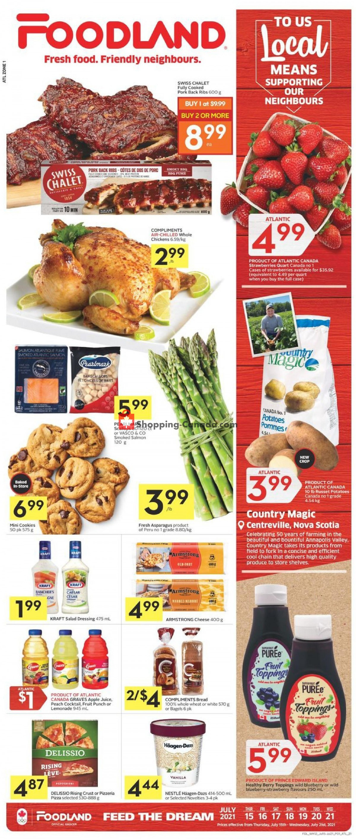 Flyer Foodland Canada - from Thursday July 15, 2021 to Wednesday July 21, 2021