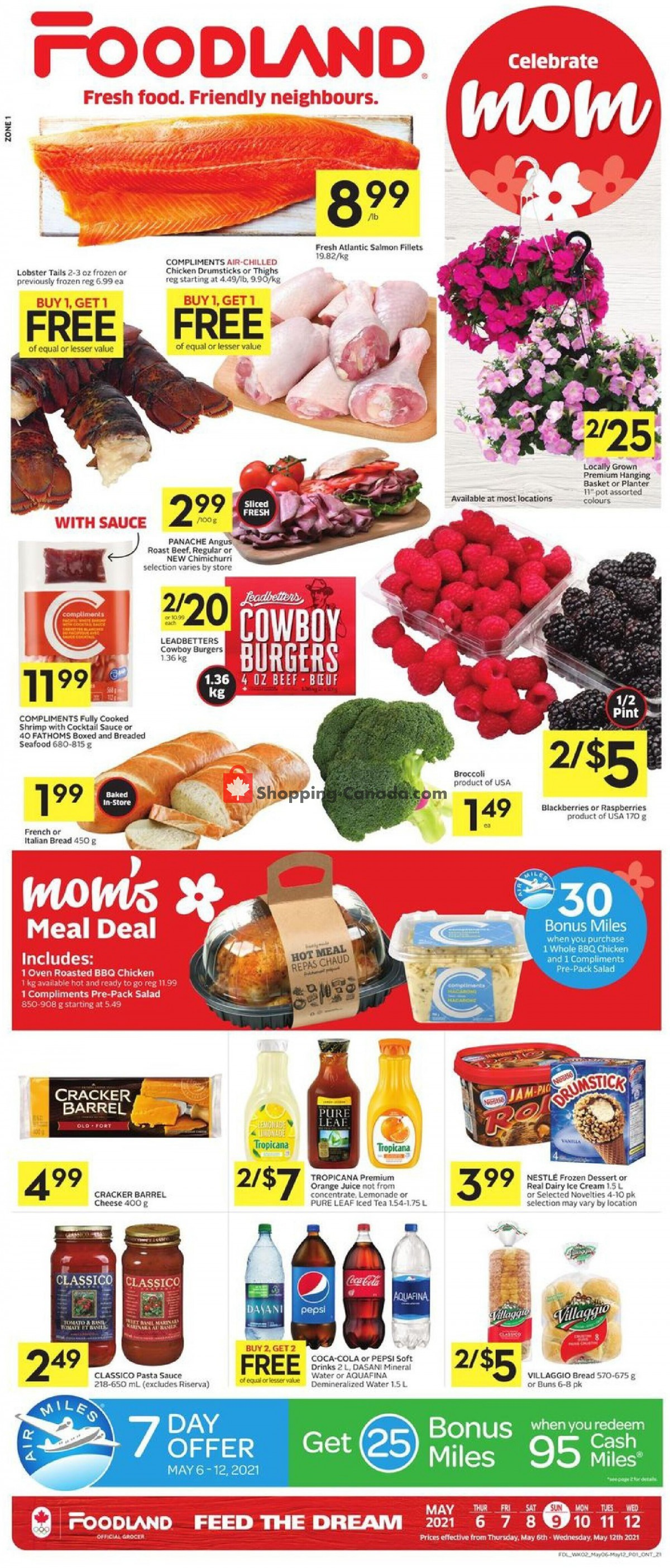Flyer Foodland Canada - from Thursday May 6, 2021 to Wednesday May 12, 2021