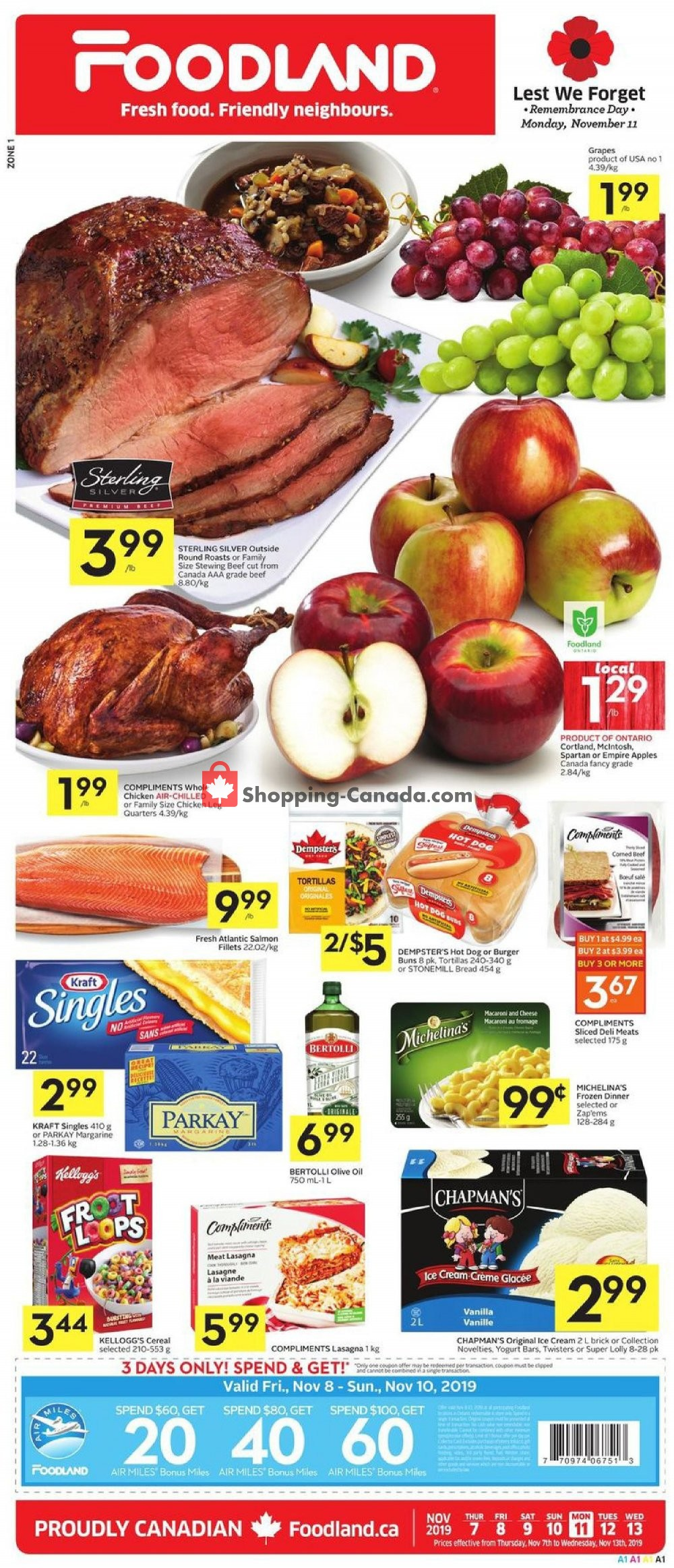 Flyer Foodland Canada - from Thursday November 7, 2019 to Wednesday November 13, 2019