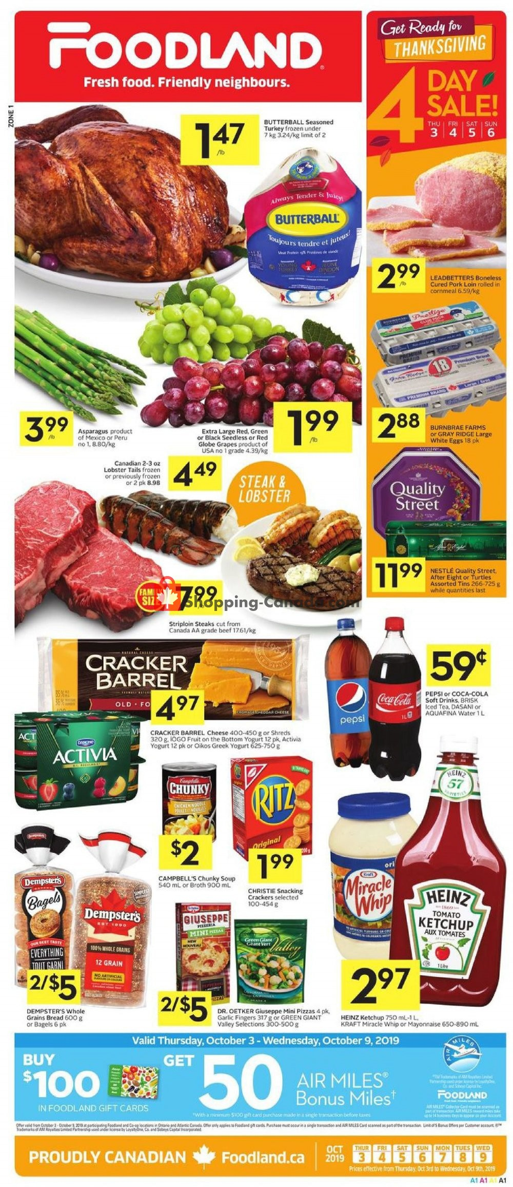 Flyer Foodland Canada - from Thursday October 3, 2019 to Wednesday October 9, 2019