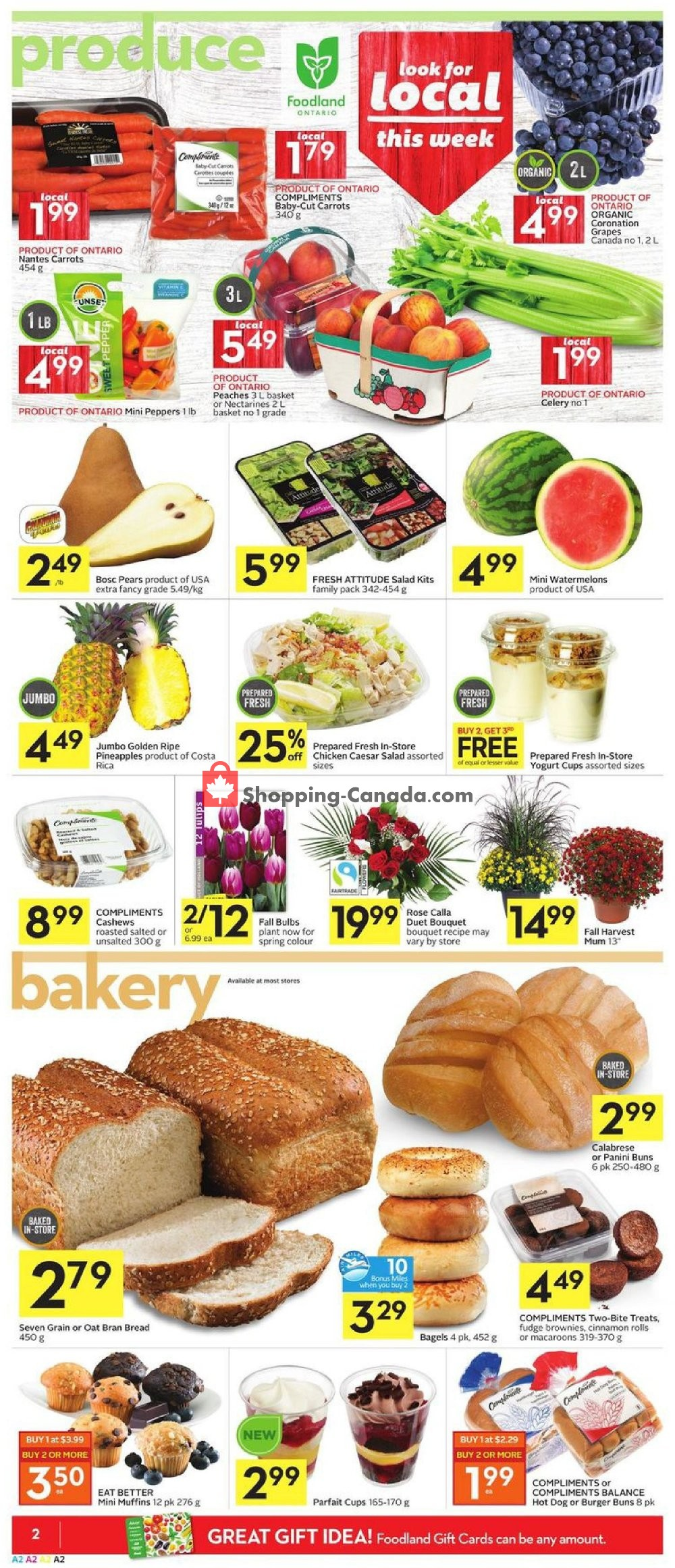 Flyer Foodland Canada - from Thursday September 5, 2019 to Wednesday September 11, 2019
