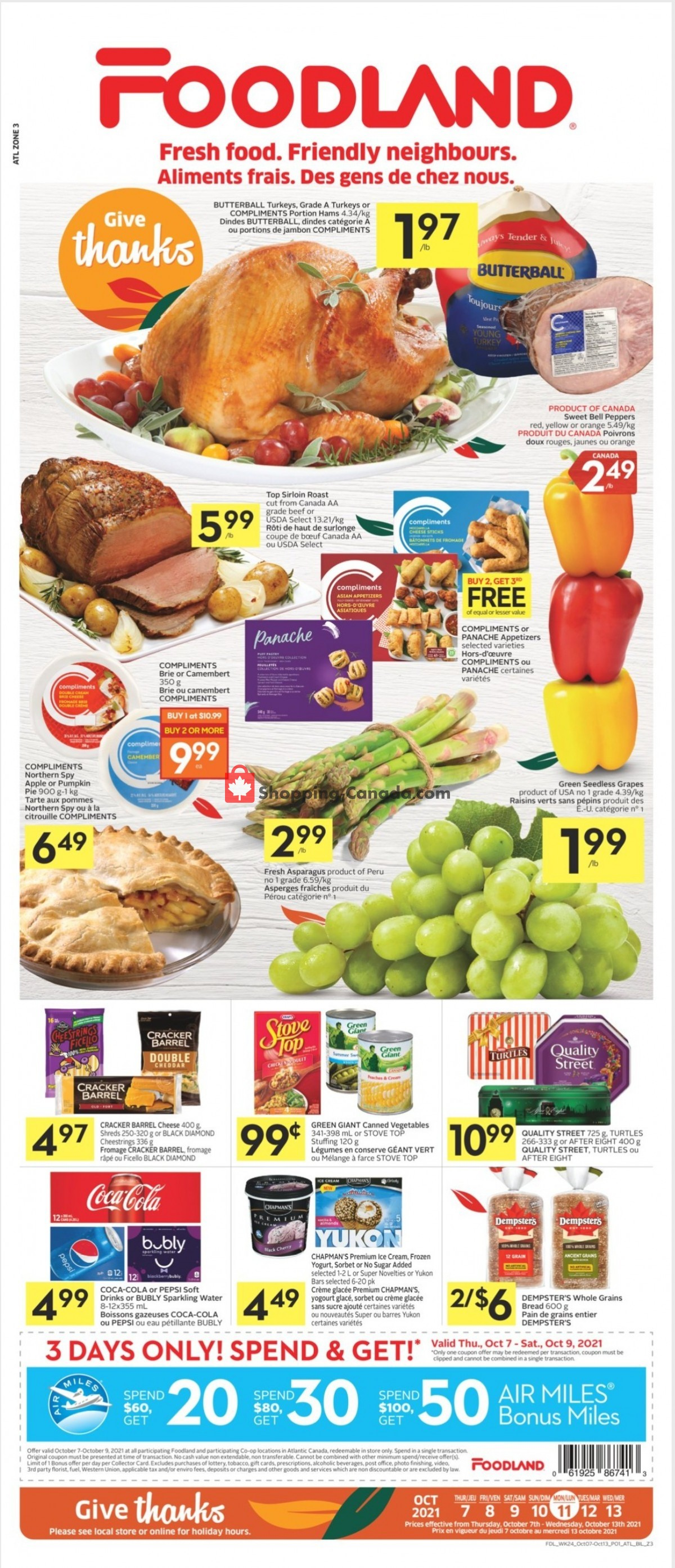 Flyer Foodland Canada - from Thursday October 7, 2021 to Wednesday October 13, 2021