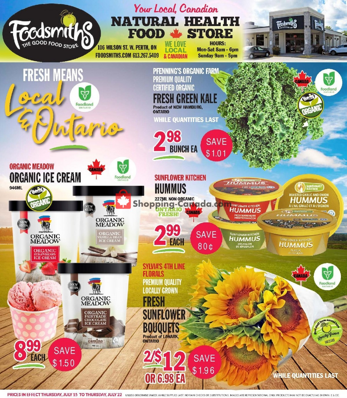 Flyer Foodsmiths Canada - from Thursday July 15, 2021 to Thursday July 22, 2021