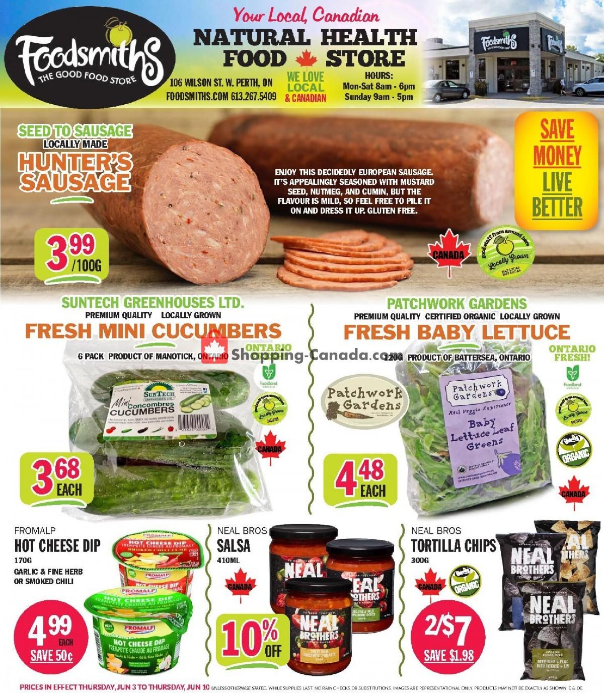 Flyer Foodsmiths Canada - from Thursday June 3, 2021 to Thursday June 10, 2021