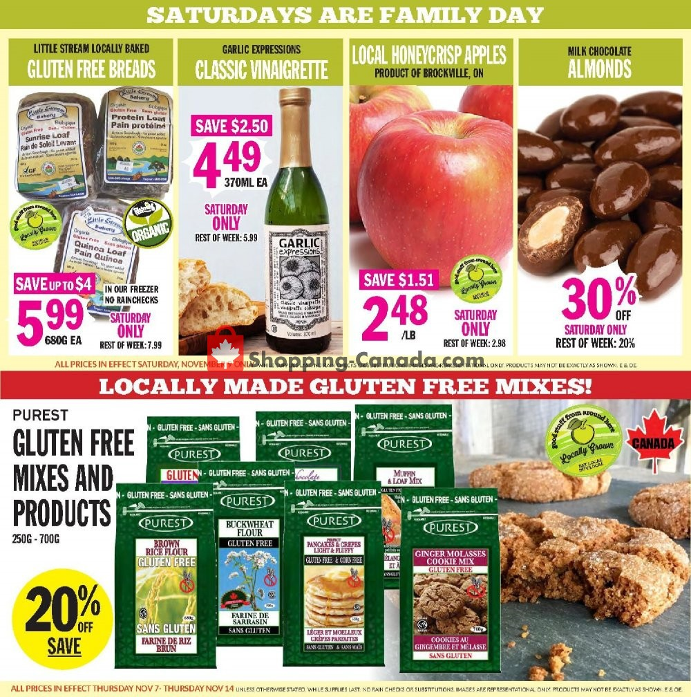 Flyer Foodsmiths Canada - from Thursday November 7, 2019 to Thursday November 14, 2019