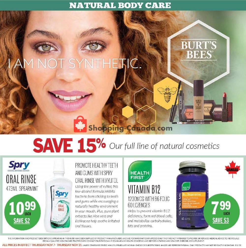 Flyer Foodsmiths Canada - from Thursday November 7, 2019 to Thursday November 14, 2019