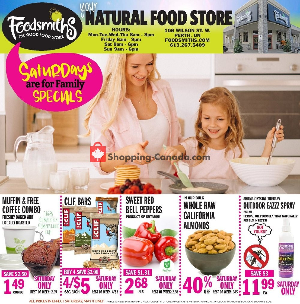 Flyer Foodsmiths Canada - from Thursday May 2, 2019 to Thursday May 9, 2019