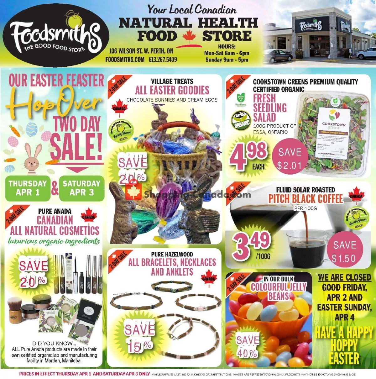 Flyer Foodsmiths Canada - from Thursday April 1, 2021 to Thursday April 8, 2021