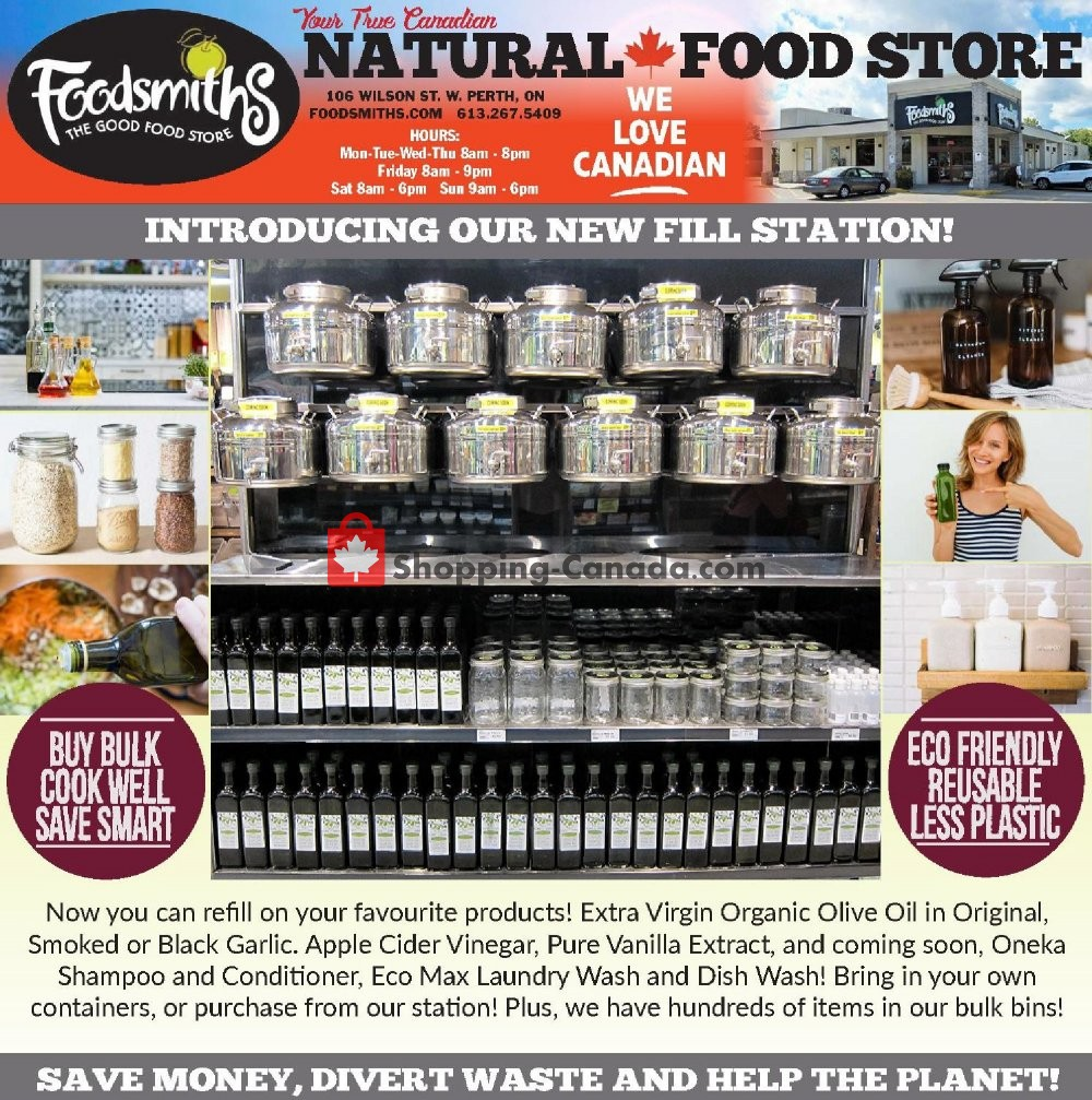 Flyer Foodsmiths Canada - from Thursday August 8, 2019 to Thursday August 15, 2019