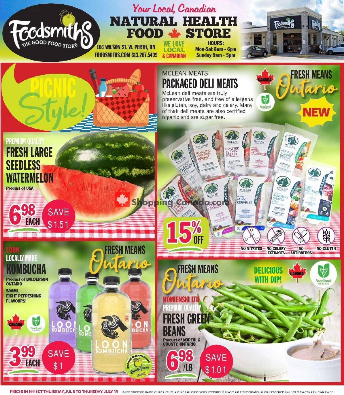 Flyer Foodsmiths Canada - from Thursday July 8, 2021 to Thursday July 15, 2021