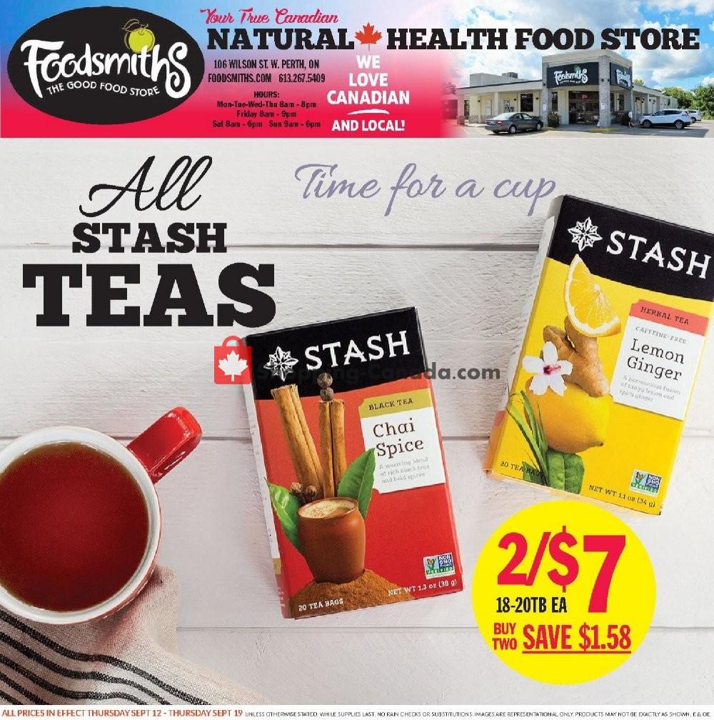 Flyer Foodsmiths Canada - from Thursday September 12, 2019 to Thursday September 19, 2019